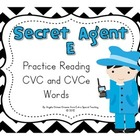 Secret Agent E Game - A Short Vowel and CVCe Game