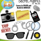 Secret Agents / Detectives Clipart Set — Over 10 Graphics!
