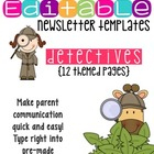 Newsletter Templates: Secret Detective Theme