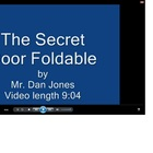 Secret Door Foldable Tutorial