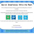 Secret Snowflakes: Write the Room