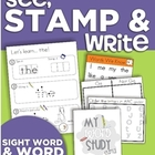 See, Stamp, Write (Sight Word Journal and Open-Ended Activ