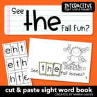 "Interactive Sight Word Reader ""See THE Fall Fun?"""