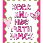 Seek and Hide Math Games