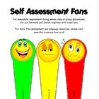 Self Assessment Smiley Face Fan, Show me Cards, Flash Cards