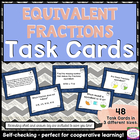 Self-Checking Common Core Task Cards - 4.NF.1 - Equivalent