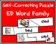 Self Correcting Puzzle - ED Word Family Words