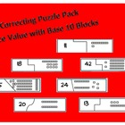 Self Correcting Puzzle Pack - Place Value Using Base Ten Blocks
