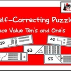Self Correcting Puzzle - Place Value to the Ten's Place