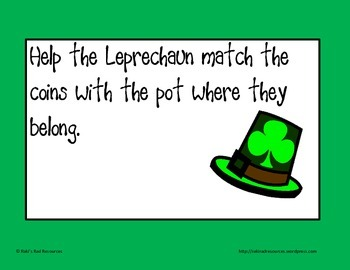 Self Correcting Puzzle - St. Patrick's Day Leprechaun Money