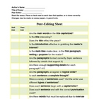 Self & Peer Editing Form
