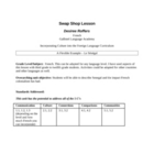 Senegal Lesson Plan