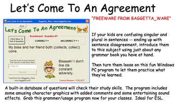Sentence Agreement Program