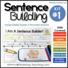 Sentence Building Kit 1 (70 pages) Whimsy Workshop Teaching
