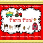 Sentence Building: Farm Fun 1! File Folder Activity (Common Core)