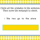 Sentence Editing Smartboard Center