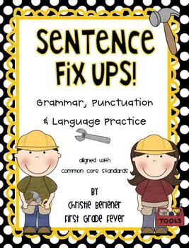 Sentence Fix-Ups! {Grammar, Punctuation, Language & Handwr