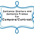 Sentence Frames for Comparing and Contrasting