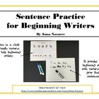 Sentence Practice for Beginning Writers