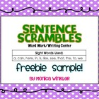 Sentence Scramble FREEBIE SAMPLE {Differentiated}