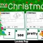 Sentence Scramble with Cut and Paste Worksheets - Christmas