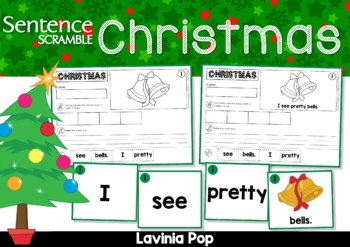 Christmas Sentence Scramble with Cut and Paste Worksheets