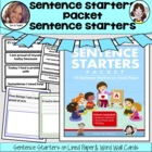 Sentence Starters Packet