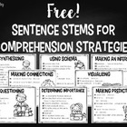Sentence Stems for Comprehension Strategies and Skills