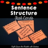 Sentence Structure Task Cards {Common Core Aligned}
