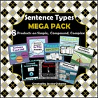 Sentence Types MEGA PACK: All my Simple, Compound, Complex