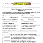 Sentences Worksheet Packet and Lesson Plan - 8 pages plus 
