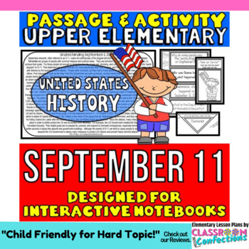 September 11 - 9/11 Passage and Activity for INTERACTIVE NOTEBOOKS