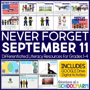 Heroes Literacy Unit (9/11, September 11, Patriot Day)