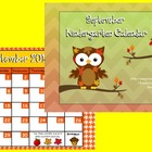 September Kindergarten Calendar for ActivBoard
