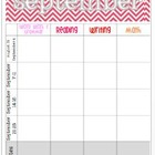 September 2014 Editable Curriculum Planning Calendar