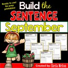 September Build the Sentence {NO PREP printables}