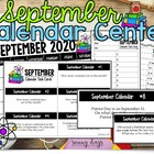 September Calendar Center Task Cards