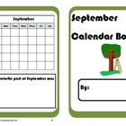 September Calendar Math Booklet - FREE