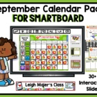 September Calendar Pack for SMARTboard - Apple Theme