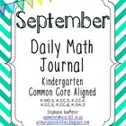 September Daily Math Journal (Common Core Aligned)