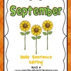 September Daily Sentence Editing
