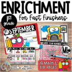 September Enrichment/ Early Finishers