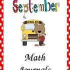 September Everyday Math Journal Powerpoint for the Smartboard