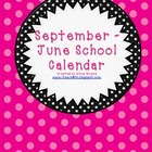 September - June School Calendar