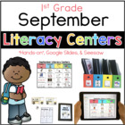 September Literacy Center Menu 1st Grade