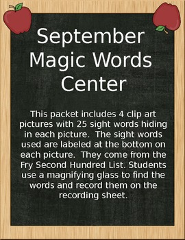 September Magic Words