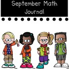 September Math Journal for Back to School