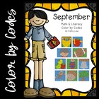 September Math &amp; Literacy Color by Codes