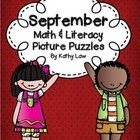 September Math & Literacy Picture Puzzles