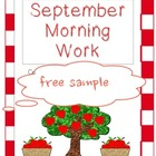 September Morning Work-Critical Thinking FREE SAMPLE